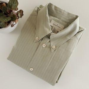 Ermenegildo Zegna Mens L Cotton Button Down Shirt